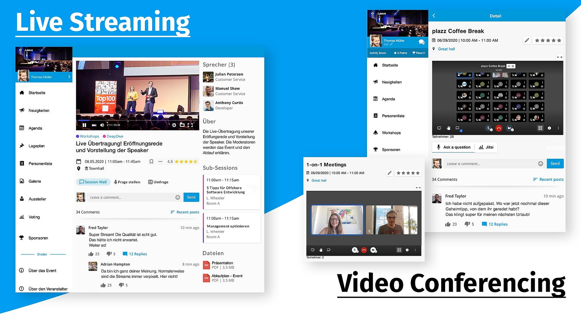 Live Streaming und Video Conferencing