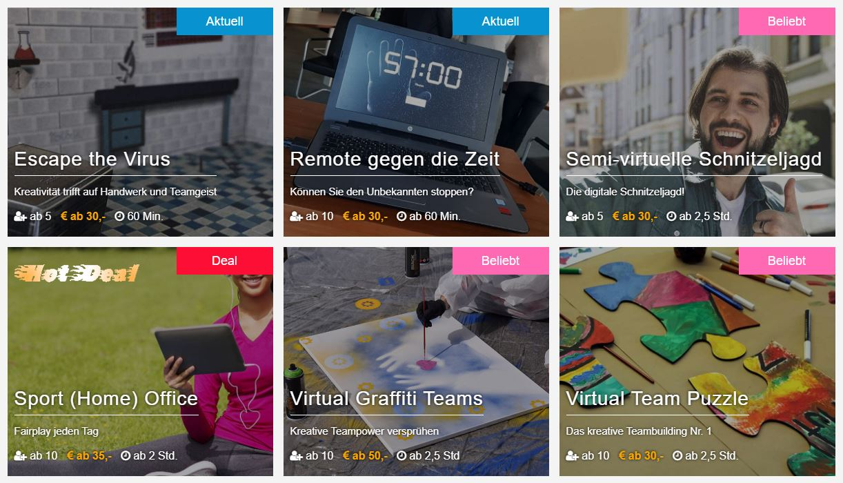 Virtuelle Spiele, Gamification und Online-Events